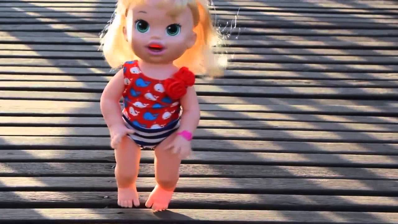 Real Swimming Baby Doll Baby Alive Toys Swimming Pool Doovi