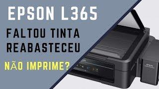 Impressora Epson L365 Não Imprime após colocar tinta - Solução Epson Ecotanque acabou tinta