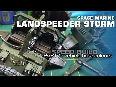 Space Marine Land Speeder Storm 1: Vehicle Base Colours