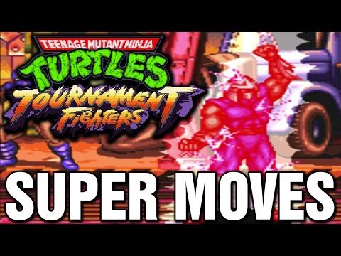 Teenage Mutant Ninja Turtles Tournament Fighters All Super Desperation Moves SNES Super Nintendo