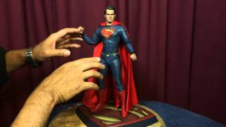 Hot Toys Man Of Steel SUPERMAN 1/6 Scale Action figure review.