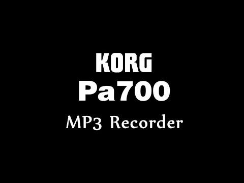 Fitur KORG PA 700  : MP3 Recorder