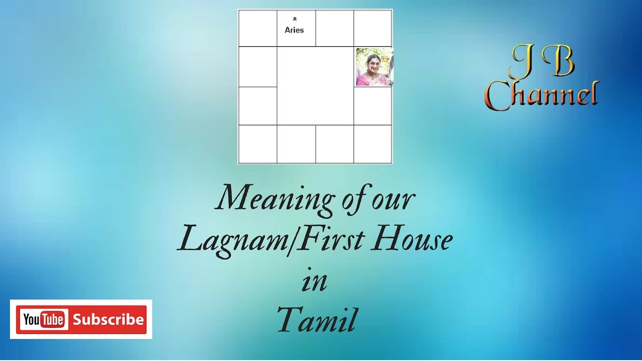 Meaning Of Our Lagnamfirst Houseascendant In Tamil Astrology