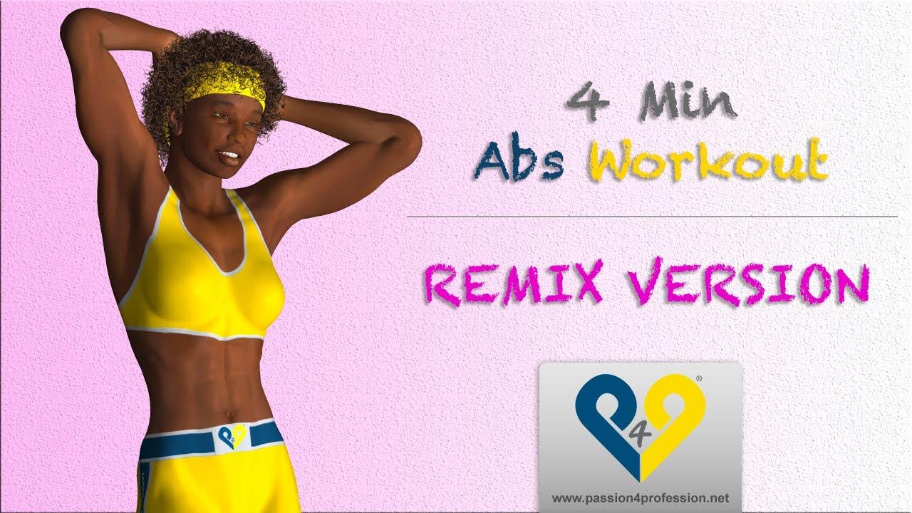 4 Minuten Bauchmuskeltraining für Frauen (Version REMIX) - YouTube