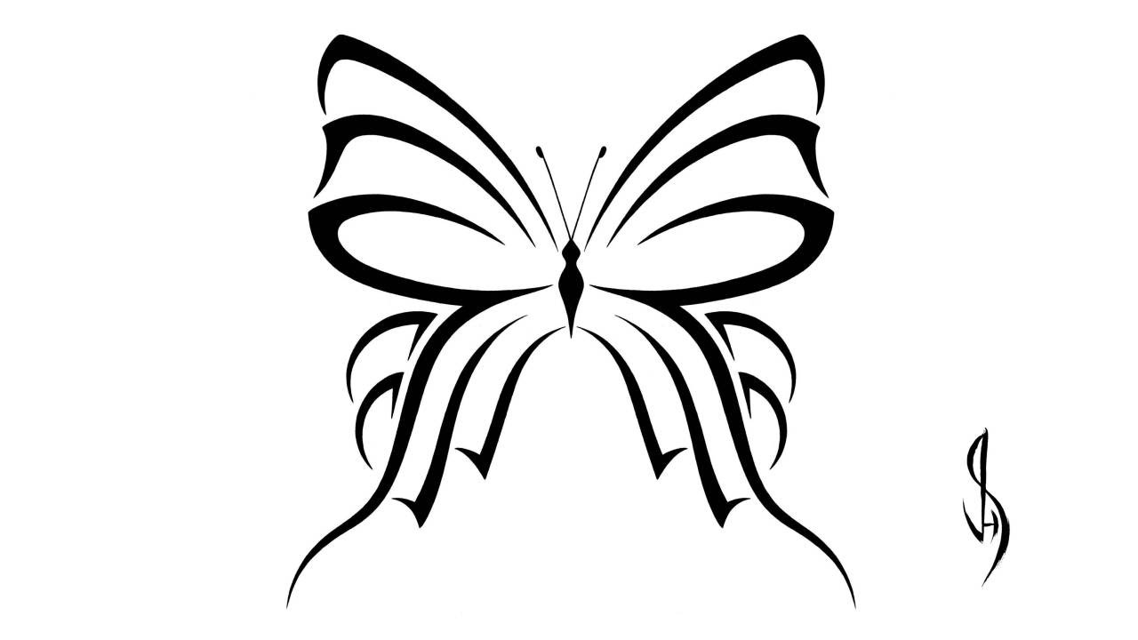 designing a butterfly shaped like a bow youtube