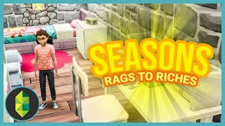SHE LIVES IN THE ATTIC - Part 42 - Rags to Riches (Sims 4 Seasons)