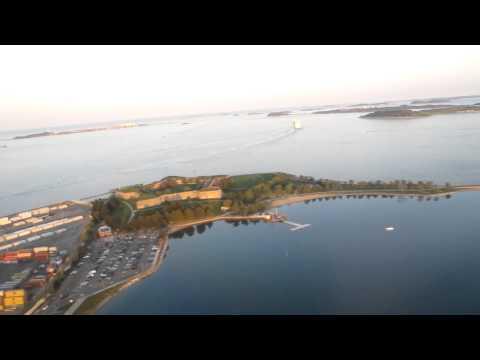 Landing at Logan airport, Boston city, state of Massachusetts, USA.