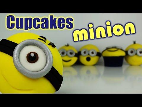 Cupcakes Minions Fondant Youtube