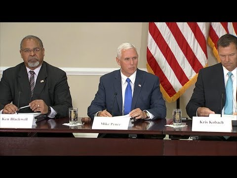 Voter fraud commission's first meeting chaired by Vice President Mike Pence