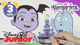 Vampirina | Colouring In Vee & Demi ✨ | Disney Junior UK