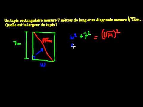 Le théorème de Pythagore - exercice 3 - YouTube