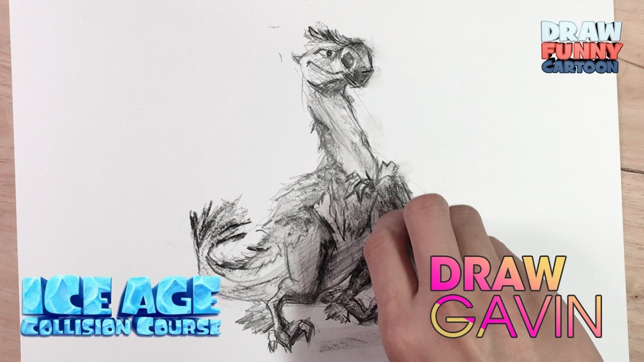 HOW TO DRAW GAVIN FROM THE ICE AGE COLLISION COURSE - YouTube