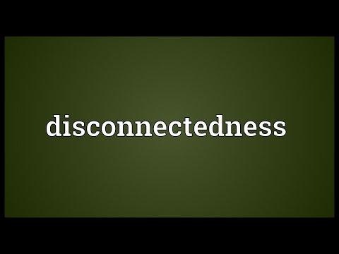 Header of disconnectedness
