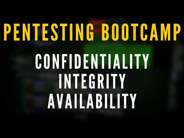 Penetration Testing Bootcamp - The CIA Triad