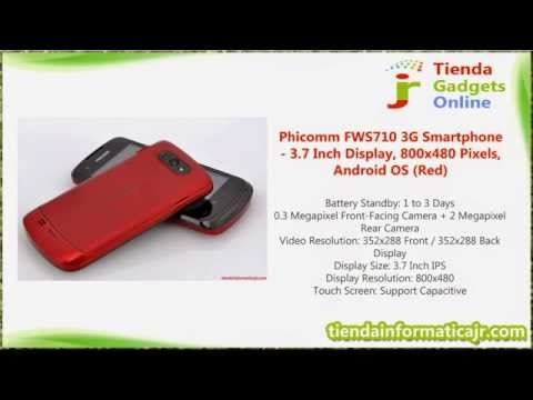 Phicomm FWS710 3G Smartphone - 3.7 Inch Display, 800x480 Pixels, Android OS (Red)