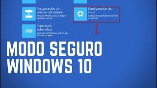 Acceder Modo Seguro en Windows 10