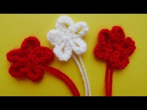 Вязание спицами цветов и листиков