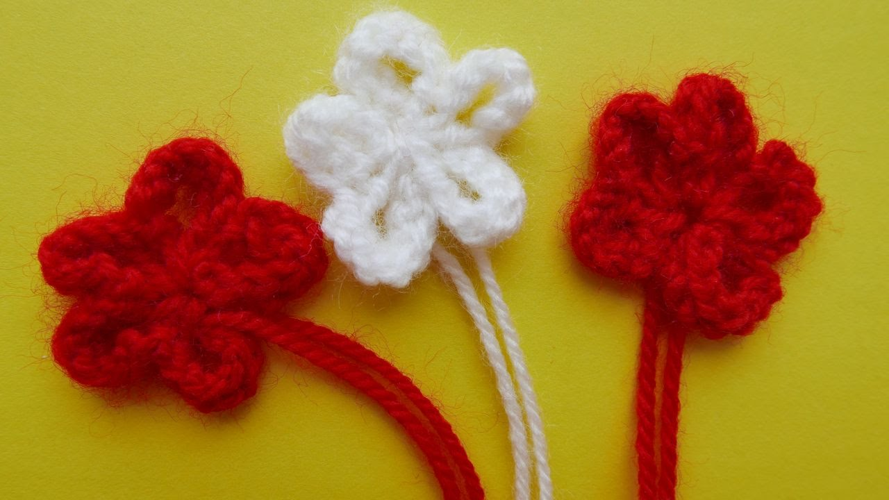 Вязаный цветок спицами схема фото 952