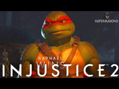 "MY BEST WIN EVER WITH RAPHAEL! - Injustice 2 ""Ninja Turtles"" Gameplay"