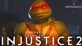 "MY BEST WIN EVER WITH RAPHAEL! - Injustice 2 ""Ninja Turtles"" Gamepl..."