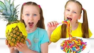 Liza and Misha - new funny stories about toys, jokes and food - the best series for children