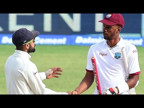 India vs West Indies: Roston Chase century earns WI draw against India