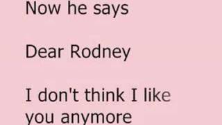 Rodney Carrington - A Letter to my Penis (lyrics)