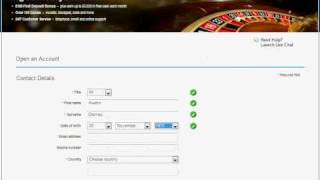 How to open an Account with William Hill Casino(William Hill registration available on http://tinyurl.com/39x4g8n For those who are not sure how to open an account with William Hill Casino. Check this video ..., 2011-02-10T19:31:58.000Z)