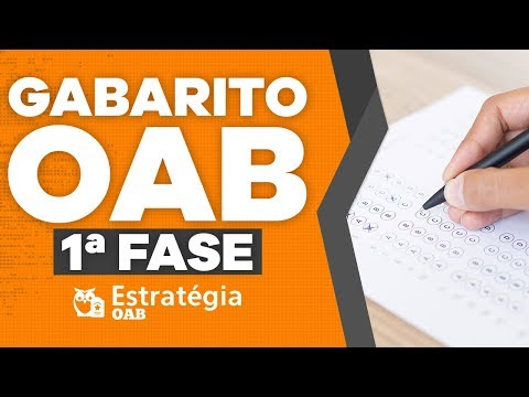 Gabarito OAB XXVII EXAME DE ORDEM 1ª Fase