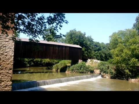 The Old Covered Bridge At The Bollinger Mill In Burfordville Missouri