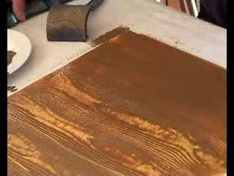 art techniques with matisse derivan wood graining youtube. Black Bedroom Furniture Sets. Home Design Ideas