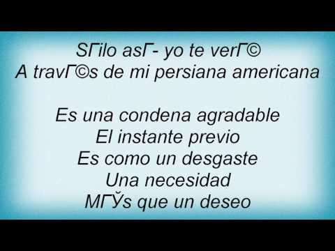 Soda Stereo - Persiana Americana Lyrics