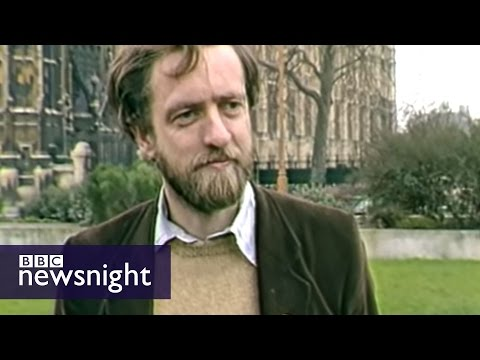 Scruffy Jeremy Corbyn winds up Tories in 1984 - BBC Newsnight