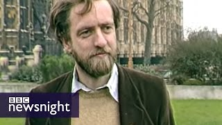 Scruffy Jeremy Corbyn winds up Tories in 1984 - BBC Newsnight thumbnail
