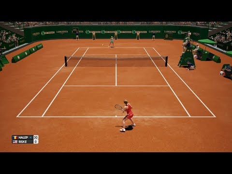 Simona Halep vs Alison Riske - AO International Tennis PS4 Gameplay