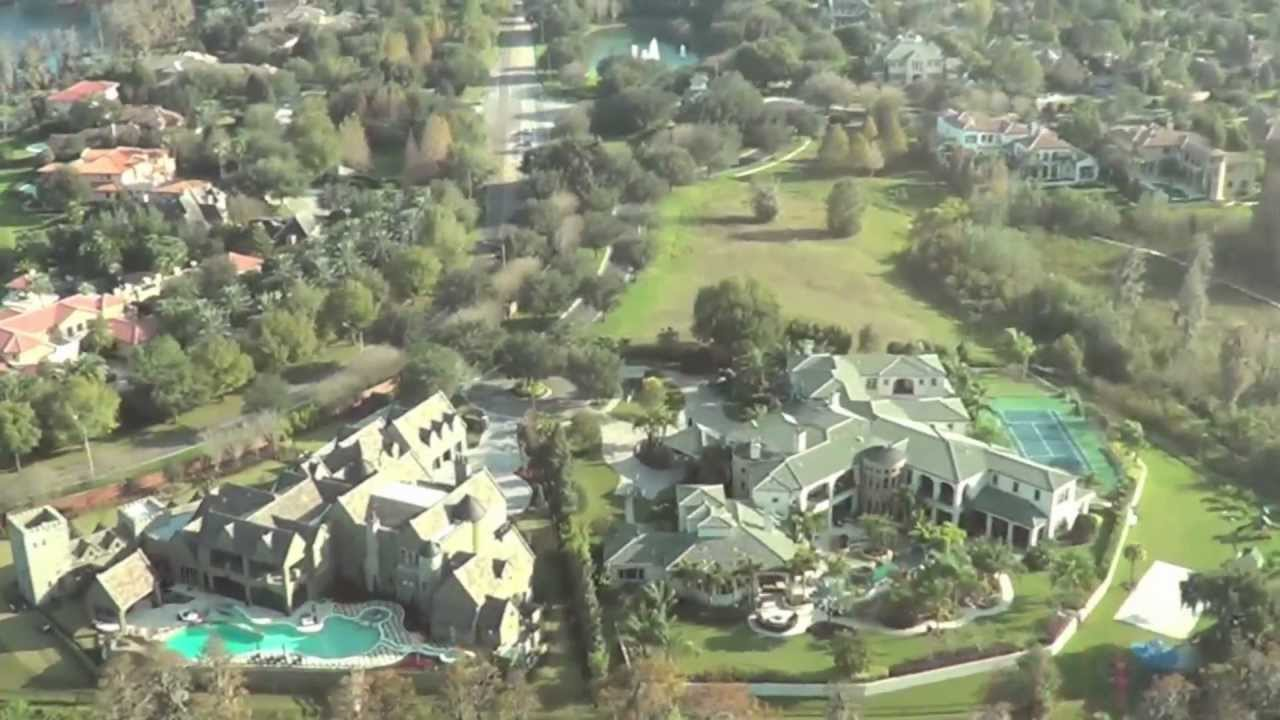 Orlando florida helicopter ride fly over theme parks for Celebrity houses in florida