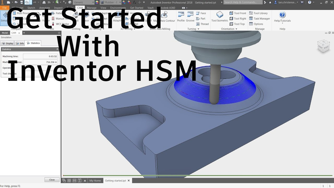 Get Started With Inventor HSM