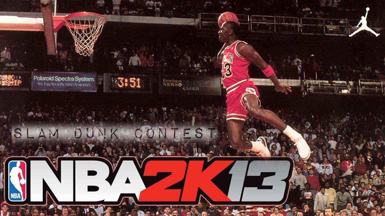 NBA 2K13 - All Star Mode - Slam Dunk Contest ft. Michael Jordan ... cdbb3f4e7e