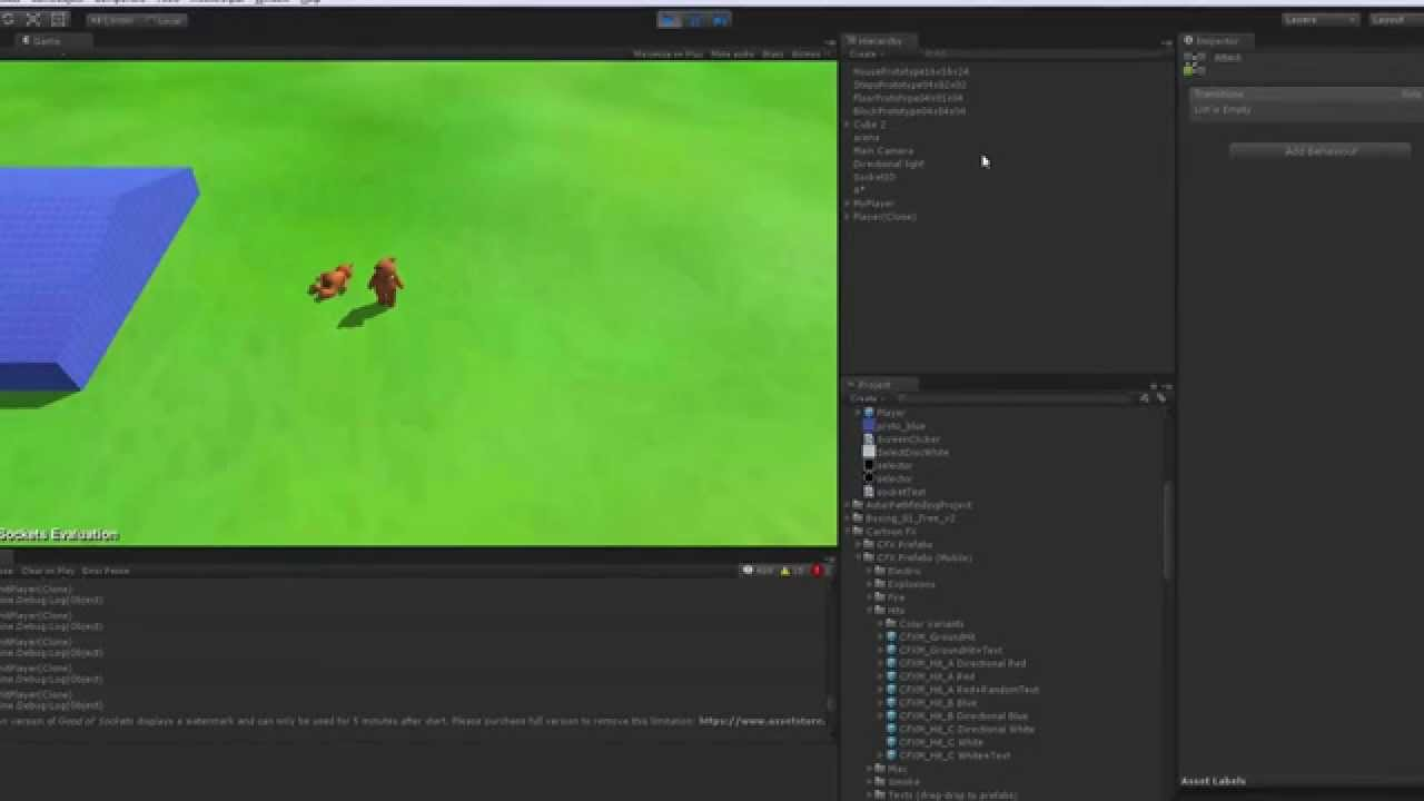 Update #2  Node js socket io and Unity3D Multiplayer Game