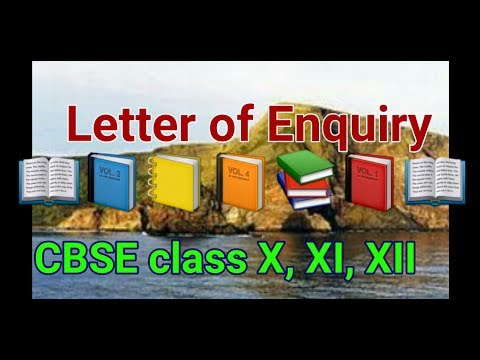 Letter of Enquiry CBSE Format YouTube – Enquiry Letter Format