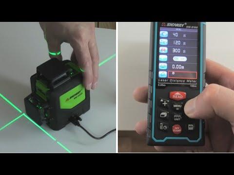 Обзор недорогого лазерного уровня и дальномера из Китая. Sndway. Проверяем точность