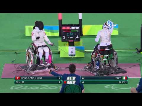 Wheelchair fencing | Italy v Hong Kong, China | Women's Foil Team Bronze | Rio 2016 Paralympic Games