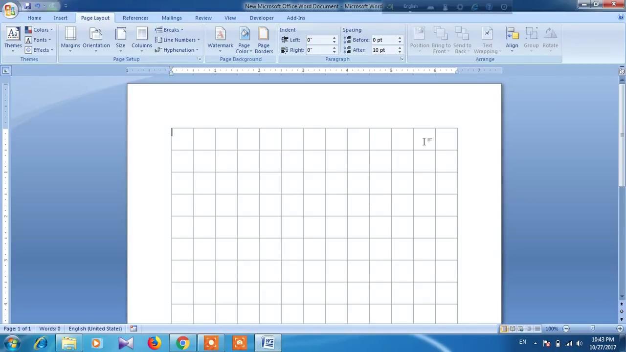 How to create custom grid line in word youtube how to create custom grid line in word ccuart Choice Image