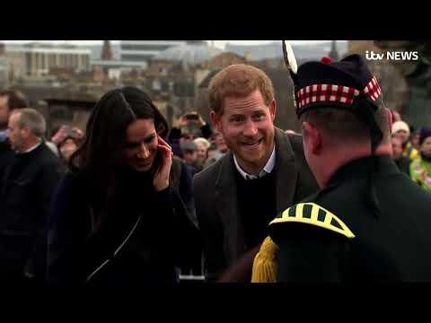 Meghan Markle laughs as a Shetland pony tries to bite Prince Harry | ITV News