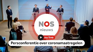 TERUGKIJKEN: Persconferentie over corona met Rutte en De Jonge