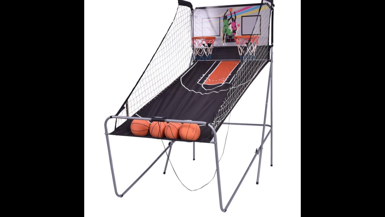 Indoor Basketball Arcade Double Electronic Hoops Shot 2 Player W 4 Slideshow
