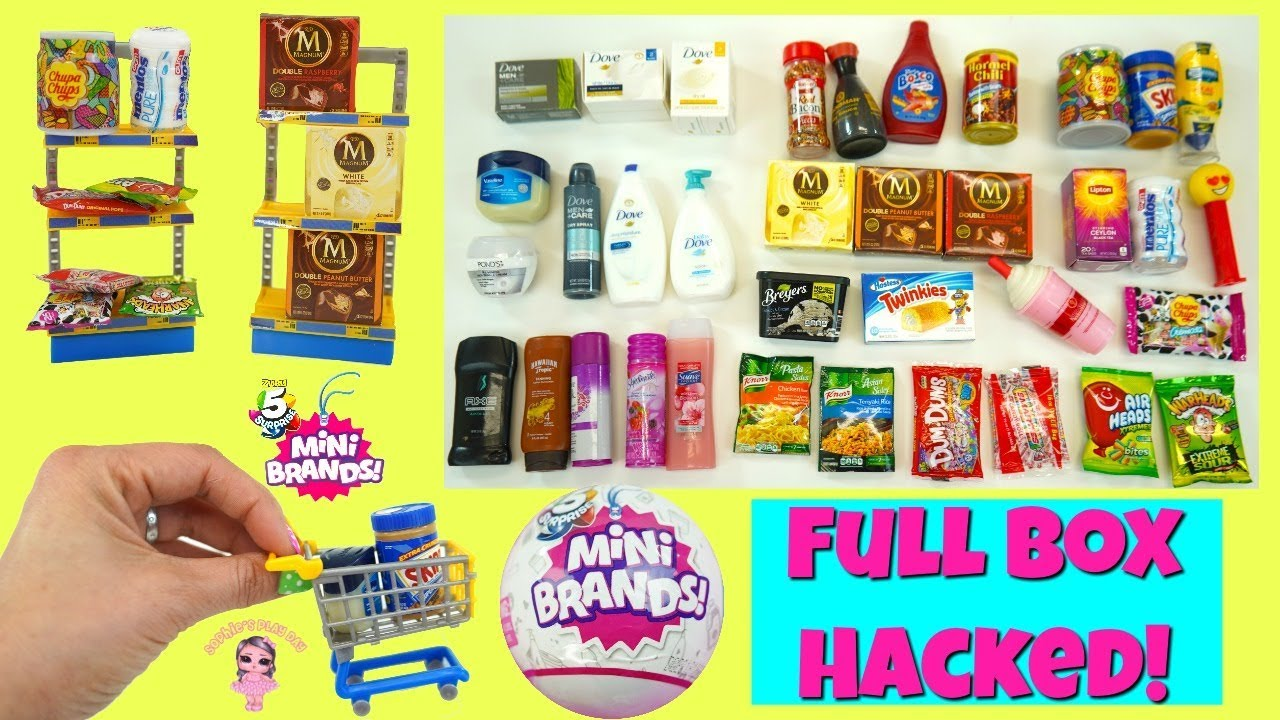 Zuru 5 Surprise Mini Brands Full Box Unboxing Weight Hacks Miniature