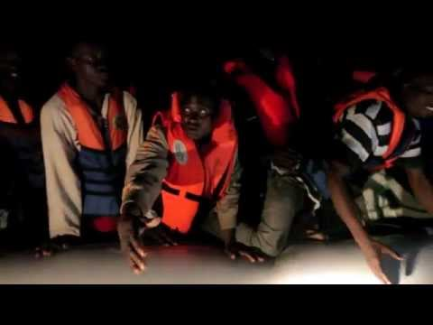 MOAS rescues migrants from dinghy at night