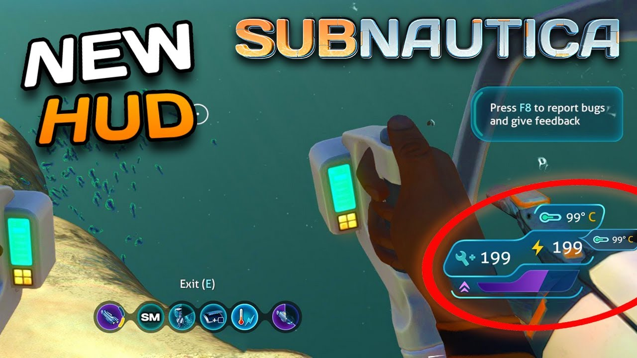 Subnautica NEW HUD Overlay concept - New data bank entries! | Subnautica  News #86