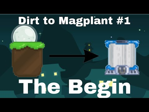 The Begin|Dirt To Magplant #1 |Growtopia